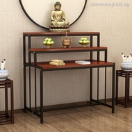Buddhist altar cabinet for table, household Buddha God of Wealth, statue cabinet, divine niche, economical table