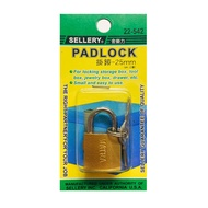 SELLERY 舍樂力 22-542 25mm 掛鎖 鎖頭 行李箱鎖 置物櫃鎖 門鎖 鐵鎖