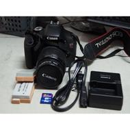 二手CANON 600D( EOS Rebel T3I )數位單眼相機+原廠18-55鏡頭.自美國購入.附盒單.充電器.