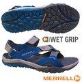 【美國 MERRELL】男 TETREX CREST STRAP 水陸兩棲運動鞋.涼鞋.溯溪鞋 / EVA中底.Wet Grip耐磨抓地系統 (非Nike)/ML48671 灰/藍 DV
