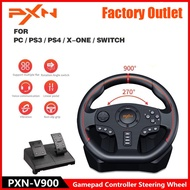 PXN PXN-V900 Gaming Steering Wheel 900° Degree Gamepad Controller Racing Video Game Vibration For PC/PS3/4/Xbox-One/Xbox 360/N-Switch