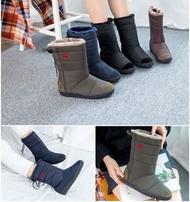 Choice🌿~韓國防潑水雪靴/⭐️超級熱賣款/皇冠👑中筒雪靴/綁帶雪靴/現貨➕預購$920(❤️免運)
