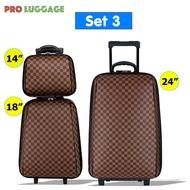 """กระเป๋าเดินทาง ล้อลาก ระบบรหัสล๊อค เซ็ท 3 ใบ (24""""+18""""+14"""") นิ้ว รุ่น Luxury Set M999"""