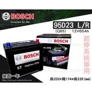 全動力-BOSCH 博世 日規電池 起停系統 95D23L (12V65Ah) Q85 直購價 同55D23 75D23