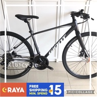 (R/Stock)Original GIANT Hybrid Bike Alloy m size Touring Bike Shimano Road Bicycle 700C Basikal by klbicycle