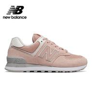 【NEW BALANCE】NB 復古鞋_女鞋_粉紅_WL574WED-B楦 網布 麂皮 運動 潮流 休閒 時尚