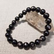 💫喬古伊💫黑銀線石/紫蘇輝石/黑線石/銀線石/透輝銀線石8.5mm手珠