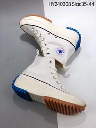 JW Anderson x Converse Run Star Hike รองเท้าวิ่ง รองเท้าสำหรับผู้ชายและผู้หญิง ประกบกัน ดาวดวงเดียวกัน  จริง