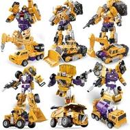 變形大力神金剛六合體挖土機汽車工程機器人組合超大套裝玩具男孩