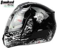 坦克V210頭盔摩托電動賽車揭面盔雙鏡片鬼爪全盔 揭面雙鏡Monster可樂帽安全帽川崎機車