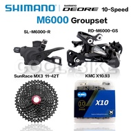Spot [Free Shipping]Shimano DEORE M6000 Groupset MTB Mountain Bike Groupset 1x10-Speed 11-42T/46T M6