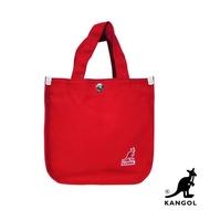 【KANGOL】韓版極簡玩色-MINI帆布斜背小方包(棗紅 AKG1215)