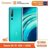 Global Version 5G   Xiaomi Mi 10 8GB RAM 128GB ROM (ยี่ห้อใหม่/ปิดผนึก) mi10, mi 10 128,สมาร์ทโฟน