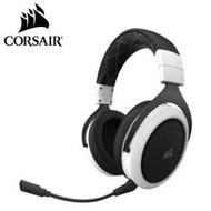 海盜船Corsair Gaming HS70 Wireless White 頭戴式無線耳機麥克風-白/虛擬7.1聲道/2.4GHz無線/16小時續航力/相容PC.XBOX ONE.PS4