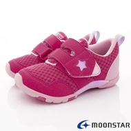 ★日本月星Moonstar機能童鞋四大機能系列寬楦頂級學步防水鞋款22582桃紅(中小童段/中大童段)