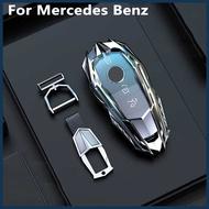 Mutips Car Key Case Cover Zinc alloy Keychain Accessories For Mercedes Benz S A E C Class W204 W212 W176 GLC CLA GLA GLE E200