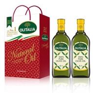 Olitalia 奧利塔純橄欖油禮盒2組 (1000mlx4罐)