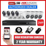 HIKVISION 8CH 2MP 8 Camera Turbo HD CCTV Package Kit 8 Channel (8CH4D4B-2MP)