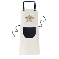 Kite Chinese Culture Traditional Pattern Cooking Kitchen Beige Adjustable Bib Apron Pocket Women Men Chef Gift - intl