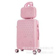 2ชิ้น/เซ็ตน่ารัก20 24 28นิ้ว14นิ้วเครื่องสำอางกระเป๋ากระเป๋าเดินทางผู้หญิงและเด็กกระเป๋าเดินทาง