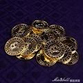 道具籌碼比特幣模型bitcoin電鍍金色幣 德州撲克賭場籌碼 克萊爾