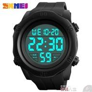 兒童手錶 時刻美大數字簡約電子表男士夜光防水鬧鐘多功能戶外運動跑步手表 數碼人生