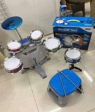 Jazz DrumSet for Kids DrumSet Toy with Chair Musical Instrument for Kids Children Musical Drum Set Kids Drum Simulation Musical Instrument