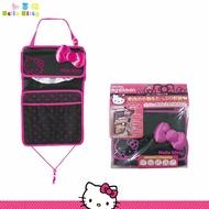 凱蒂貓 Hello Kitty 三麗鷗 車用 收納 面紙套 面紙盒 椅背式 卡通 日本進口正版 864254