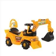 大型兒童挖掘機可坐人3可騎充電動4遙控挖土機男童四輪工程車玩具 LX  居家