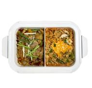 預購 日本BRUNO  陶瓷鴛鴦鍋 (電烤盤配件) BOE021-SPLIT-CE 鴛鴦鍋公司貨