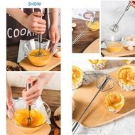 สแตนเลสสตีลความดันมือหมุนเครื่องผสมกาแฟนมกึ่งอัตโนมัติเครื่องตีไข่มือถือเครื่องมือทำอาหารในครัว