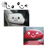 Car Stickers Car Stickers For Volkswagen. Wink Smiling Face Rearview Mirror Decal