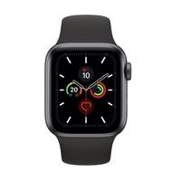 Apple Watch S5 GPS版 40mm太空灰鋁錶殼黑色運動錶帶MWV82TA