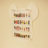 [NEW]White Wall Hanging Display Case for bricks bearbrick