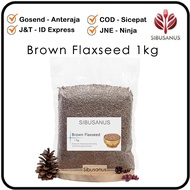 Brown Flaxseed 1 Kg - Flaxseed Brown Import - Whole Hemp Seeds - Brown Flaxseed 1kg Import