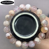 Natural Oriental Cherry Blossom Agate Beads Bracelet Charms 8/10/12mm for Women