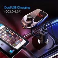 Car MP3 Bluetooth Player 5.0 FM Transceiver Dual USB Charger U Drive Music Player