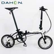 DAHON大行 K3 14吋3速鋁合金輕量僅8.1kg折疊單車/自行車-白