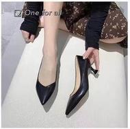 🎀พร้อมส่ง❣️TX203 MAXi Style รองเท้าคัชชูส้นสูง หัวแหลม สูง2.5นิ้ว รองเท้าส้นเข็ม รองเท้าแฟชั่น (4สี)