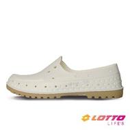 LOTTO樂得-義大利第一品牌 女款經典帆船洞洞鞋 [LT1AWS3569] 白【巷子屋】