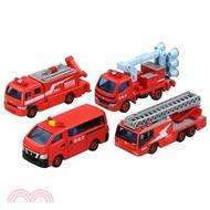 TOMICA小汽車-TOMICA GIFT 消防車組