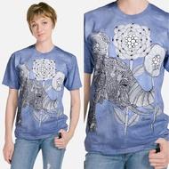 【摩達客】美國進口ColorWear 大象 禪繞畫療癒藝術 環保短袖T恤(現貨)