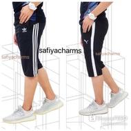 TRACKSUIT 3 SUKU pendek seluar sukan track suit lelaki perempuan women men unisex.