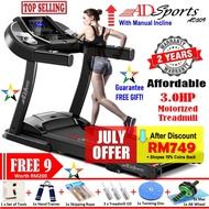 3.0HP ADSports AD509 Home Exise Gym Fitness Electric Motorized Treadmill Mesin Lari Treadmill