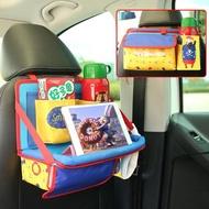 汽車內飾用品多功能椅背卡通摺疊餐桌置物車載儲物座椅靠背收納袋