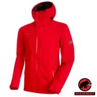 【瑞士 MAMMUT 長毛象】Convey Tour HS Hooded 男新款 Gore-Tex 2.5層頂級防水透氣耐磨風雨衣.連帽防水外套.登山雨衣/26030-3465 岩漿紅