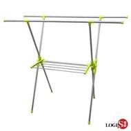 LOGIS 日系X型雙桿不鏽鋼伸縮曬衣架吊衣架 吊衣桿 晾衣架