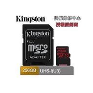 金士頓 SDCR 256G MICRO SD XC 讀100寫80M U3 KINGSTON記憶卡 Canvas