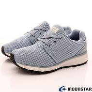 ◍零碼◍日本月星Moonstar機能女鞋涼感止滑系列3E寬楦輕量柔軟抗菌健走鞋款1587藍(女段)