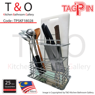 TAGPIN - Knife and chopping board holder - Grade 304(18-8) Stainless Steel - Made in Malaysia - TPSKH18028.
